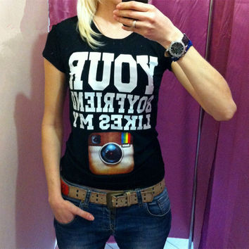 Cotton Camera Print 3D T-shirt