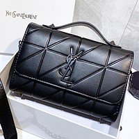 YSL New fashion leather shoulder bag handbag crossbody bag Black