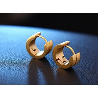 Texture frosted ear buckle stainless steel ear buckle men and women