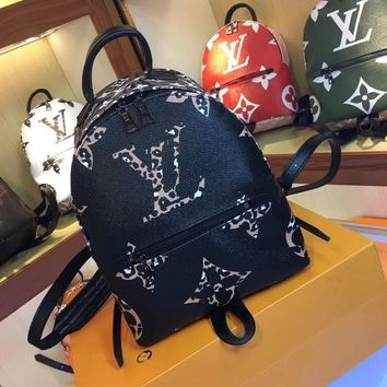 8-21[NEW]Louis VuittonM41560 PALM SPRINGS new fashion color printing big flower color matching female backpack