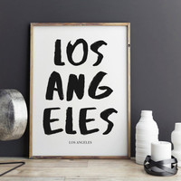 Los Angeles Print, Los Angeles Poster for office decor,California city prints, gifts, work desk, Los Angeles city Prints, art, Wall Art, Art