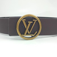 LV retro simple ring mother and daughter buckle belt