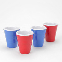 Mini Shot Cup - Set Of 4 shot glasses solo cups red blue