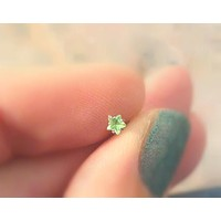Green Crystal Star Cartilage Earring Tragus Helix Stud Cartilage Earrings Internally Threaded