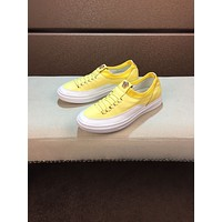 2020 New Versace Men Fashion yellow black leaher Chain Reaction Sneakers Sport Shoes Runnin shoe for men BEST Quality