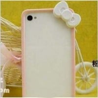 Hello Kitty Iphone 5 Bumper Baby Pink with White Bow + free stylus from Opower