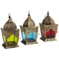 Mini Gold Brushed Lanterns