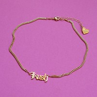 Kush Nameplate Necklace