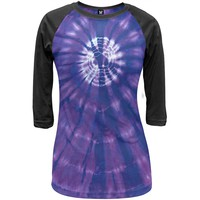 Purple Burst - Tie Dye Juniors Raglan