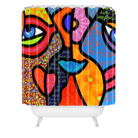 Steven Scott Eye To Eye Shower Curtain