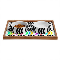 Lisa Argyropoulos Rainbow Pop Zig Zag Pet Bowl and Tray