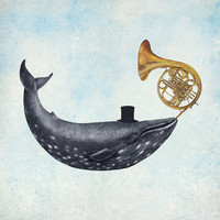 Whale Song Art Print by Terry Fan | Society6