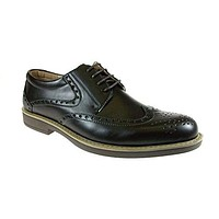 Men's Edison-12 Classic Wing Tip Lace Up Oxford Dress Shoes
