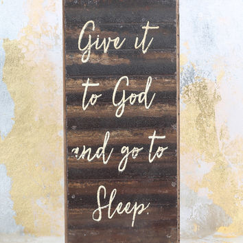 Altar'd State Give it to God Box Sign - Gifts/Home Decor
