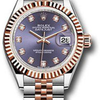 Rolex - Datejust Lady 28 - Stainless Steel and Everose Gold - Fluted Bezel