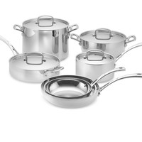 Cuisinart Tri-Ply Stainless-Steel 10-Piece Cookware, Set