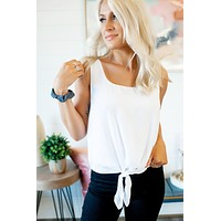White Front Knot Tank
