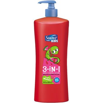 Suave Kids Wacky Melon 3-in-1 Shampoo + Conditioner + Body Wash, 28 fl oz - Walmart.com
