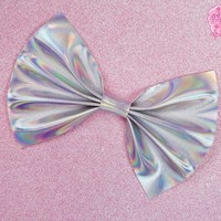 Holographic Hair Bow from Pink ♡ Sugar