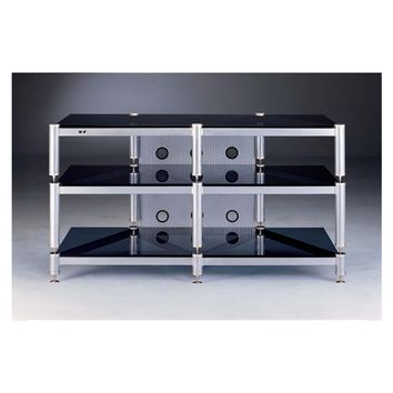 BLG Series 3 Shelf TV Stand Audio Video Rack Multiple Finishes