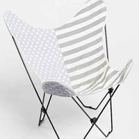 4040 Locust Flag Butterfly Chair Cover- Grey One
