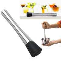 New Cocktail Muddler Stainless Steel Bar Mixer Barware Mojito Cocktail DIY Drink Fruit Muddler Crushed Ice Barware Bar Tool