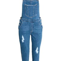 Denim dungarees - Denim blue - Ladies | H&M GB