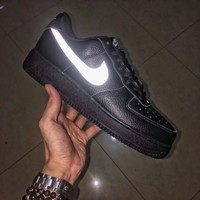 Nike Air Force 1 Black Leather Vlone Black&White 3M