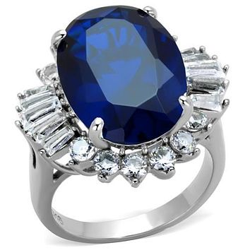 Cheap Engagement Rings TK1872 Stainless Steel Ring with Synthetic in London Blue