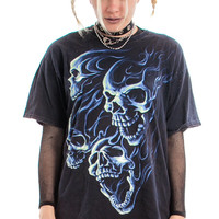 Vintage Y2K Like, Hellllllla Metal Tee - One Size Fits Many