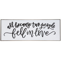 Two People Fell In Love Wood Wall Decor   Hobby Lobby   1293695