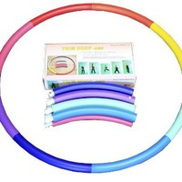 """Sports Hoop® for Exercise: Trim Hoop® 2MS - 2.3lb (Dia.37"""") Medium-small, Exercise Hula Hoop with 50 minutes Workout Lesson DVD"""