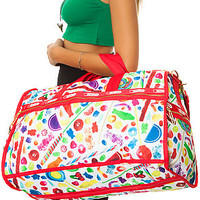 LeSportsac Bag Large Weekender in Candy Spill Red