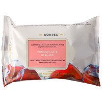 Pomegranate Cleansing & Make Up Removing Wipes For Oily And Combination Skin - Korres   Sephora