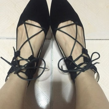 Milanblocks Desginer Casual Suede Leather Flat Pointed Toe Brand Ankle Strappy Shoes