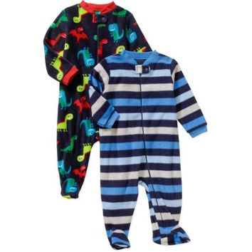 Garanimals Newborn Baby Boy Microfleece Sleep n' Plays, 2-Pack - Walmart.com