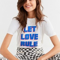 Let Love Rule Tee | Urban Outfitters