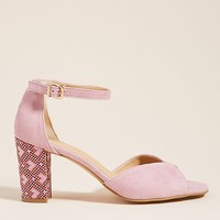Anthropologie Christie Printed Heeled Sandals