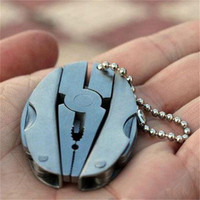 New Foldaway Keychain Pocket Multi Function Tools Set Mini Pliers Knife Screwdriver High Quality