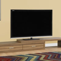 """Tv Stand - 60""""L To 98""""L / Expandable / Walnut"""