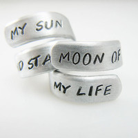 My sun and stars, moon of my life, Set of Two, Wrap Ring, Game of Thrones