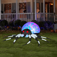 Black & White  Kaleidoscope Projection Spider Large Airblown