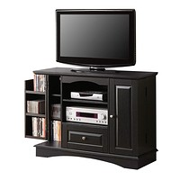 "42"" Black Wood Highboy TV Stand"