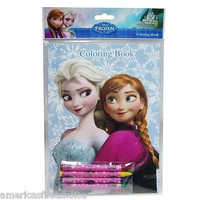Disney Frozen Anna&Elsa Blue Coloring Book & Crayons-New!4 styles you can choose