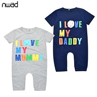 Newborn Baby Rompers Summer 2017 Baby Boy Girl Clothes Overalls for Children Toddler Jumpsuit Infant Clothing Cotton FF055