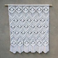 Large wall decor Large macrame wall hanging Tapestry Boho home decor Living room decor Bohemian bedroom Housewarming gift for her