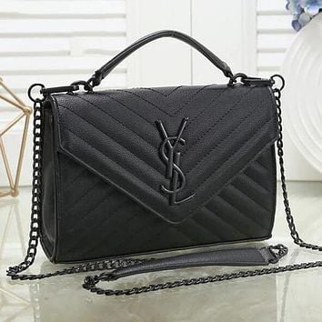 YSL Yves Saint Laurent Classic Popular Women Leather Handbag Shoulder Bag Crossbody Satchel