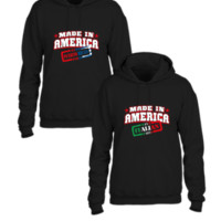 made in america italian and puerto rican parts couple tshirt - Couple hoodie