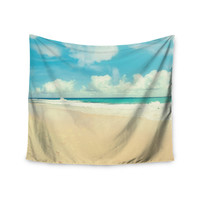 "Sylvia Cook ""Beach Time"" Brown Blue Wall Tapestry"