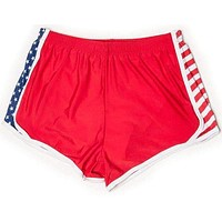 Stars and Stripes Shorts in Red by Krass & Co.